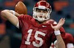 Arkansas Democrat-Gazette/BENJAMIN KRAIN -12/31/10-- Ryan Mallett works out with the Razorbacks at the Louisiana Superdome in New Orleans on Friday in preparation for next weeks SugarBowl game against Ohio State.