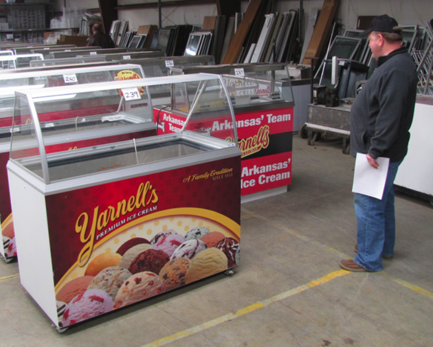 a-potential-bidder-looks-over-yarnells-freezers-at-a-bankruptcy-auction-last-year-the-auction-ultimately-culminated-with-a-chicago-company-buying-all-the-assets-yarnells-is-expected-to-be-back-on-store-shelves-soon