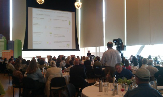 around-150-people-showed-up-for-the-sustainability-conference-at-he-clinton-librarys-great-hall-on-thursday-morning
