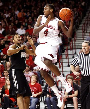 Forward Devonta Abron is leaving Arkansas to be closer to his home in Texas.