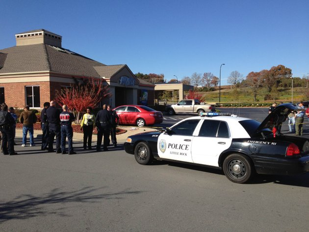 little-rock-police-respond-to-a-reported-shooting-and-bank-robbery-at-an-arvest-bank-branch-at-16107-chenal-parkway
