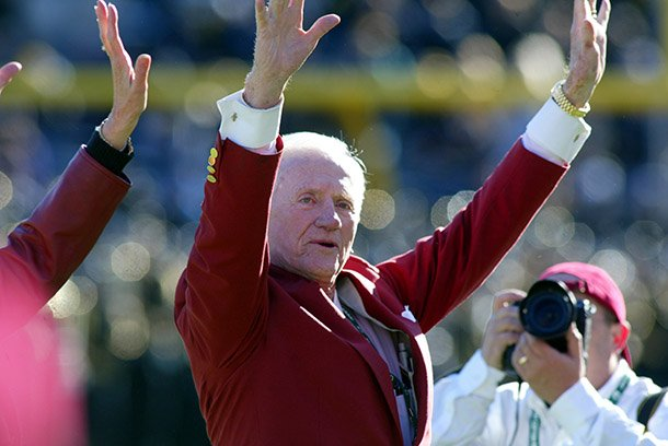 frank-broyles-is-recognized-prior-to-the-cotton-bowl-classic-on-jan-1-2008