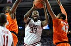 Marshawn Powell scored 19 points and had 7 rebounds in Arkansas' loss to Syracuse.