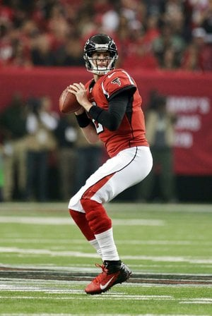 Atlanta Falcons quarterback Matt Ryan won his ÿ rst playoff game Jan. 13 against the Seattle Seahawks. The Falcons can earn their second NFC Championship with a victory today against the San Francisco 49ers.