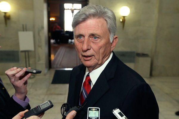 beebe-vetoed-senate-bill-2-on-monday-a-bill-that-wouldve-required-voters-to-show-identification-at-polling-stations-in-this-march-10-2013-file-photo-gov-mike-beebe-is-interviewed-in-a-hallway-at-the-state-capitol-in-little-rock-after-vetoing-legislation-that-would-have-banned-abortions-12-weeks-into-a-pregnancy