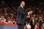 .Auburn head coach Tony Barbee in the first half against Arkansas Wednesday, Jan. 16, 2013 in Bud Walton Arena in Fayetteville. The Razorbacks won 88-80 in double overtime.