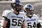 Defensive linemen Hjalte and Lars Froholdt represented Denmark in the 2014 Football European Championships. They also hope to play together at Arkansas. 