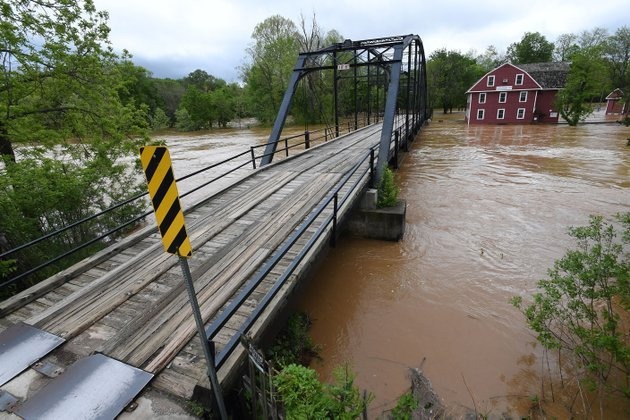 the-war-eagle-mill-stands-in-floodwater-sunday-benton-county-officials-say-the-historic-war-eagle-bridge-will-be-closed-for-repair-beginning-the-week-of-may-8-and-remain-closed-until-the-work-is-done-later-this-year