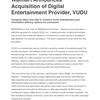 Walmart Announces Acquisition of Digital Entertainment Provider, VUDU