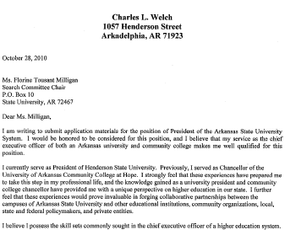 cover letter and resume for charles l  welch