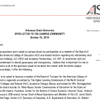 Howard's open letter to the ASU campus