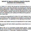 Intercollegiate Athletic Revenue and Expenditures Report, 2009-10