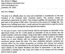 Cover letter and resume for William B. Richardson Jr.
