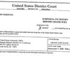 Subpoena calling Rush Harding for grand jury in Lu Hardin case