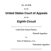 Desegregation: 8th circuit filing response by state