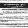 Investigative Report Update #1