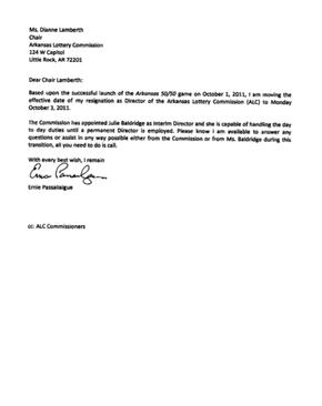 New Ernie Passailaigue Resignation Letter Nwaonline