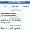 Petrino text messages