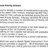 Priority schools needing improvement