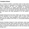 Exemplary Schools Listing