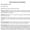 Notice of Employee Termination