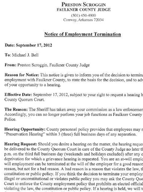 Notice of employee termination nwaonline notice of employee termination this letter spiritdancerdesigns Choice Image