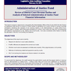 Special Report: Administration of Justice Fund