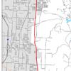 Preferred eastern corridor alignment