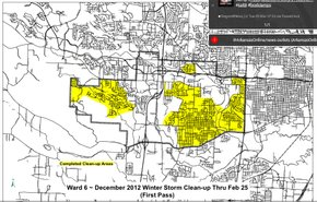 Little Rock Ward 6 Stormcleanup Map  NWAonline