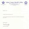 Sheriff Bruce Pennington letter amending retirement date