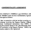 Confidentiality agreement between Exxon, CAW