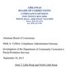 Compliance investigation of DCC Parole/Probation Services