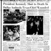 Arkansas Democrat front page Nov. 22, 1963