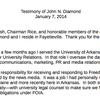 John Diamond's prepared statement for Jan. 7, 2014