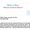 Mark Darr resignation letter