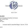 Letter to the Arkansas Judicial Discipline & Disability Commission in Michael Maggio case