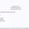 Letter from Ancil Lee III to Chris Stewart