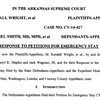 Plaintiffs respond to state's request for stay