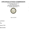 Ethics Commission letter to Thomas Buchanan