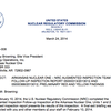 Nuclear Regulatory Commission letter to Entergy about Arkansas Nuclear One