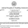 Judicial Discipline and Disability Commission report on Judge Michael Maggio