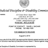 Judicial Discipline and Disability Commission report on Circuit Judge Michael Maggio