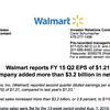 Wal-Mart earnings report, Q2 2015
