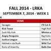 09.10.14 Week One Kickball
