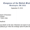 Arkansas representatives' letter to insurance commissioner