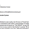 Letter to Benton County Juvenile Detention Center