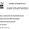 Internal investigation summary of the Yell County Juvenile Detention Center
