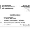 Arkansas general revenue report for December 2014