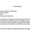 Letter to the Arkansas Department of Education
