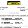 J.B. Hunt Transport 4th-quarter 2014 earnings
